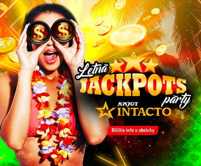 Letná Jackpots párty baner